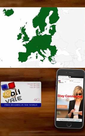 BLIVALE Internet 4G Europa Unlimited Free Roaming